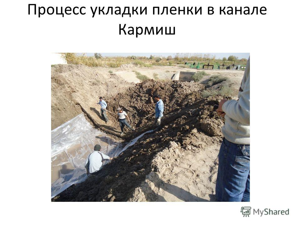 Процесс укладки пленки в канале Кармиш