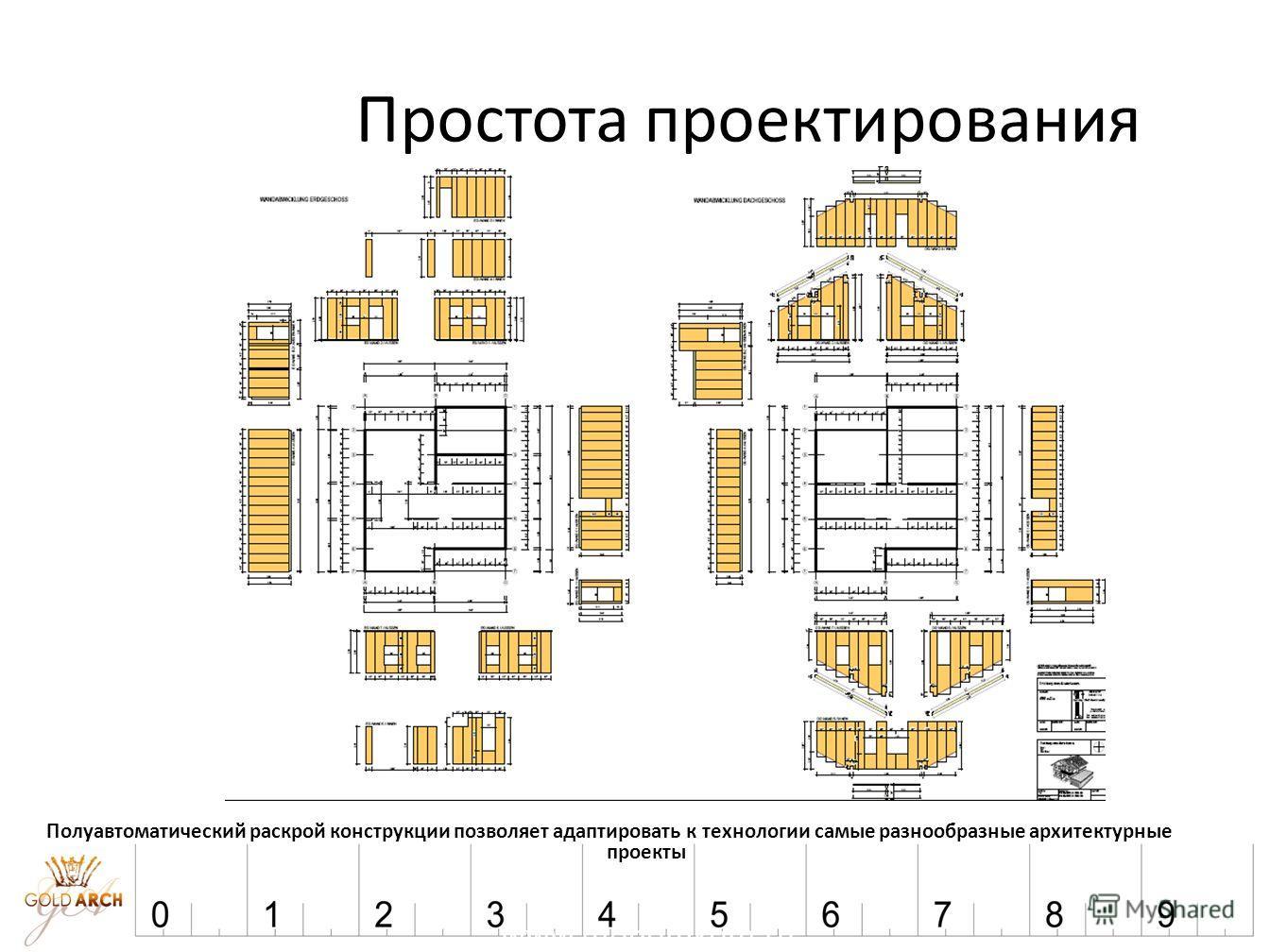 www.modomkom.ru Простота проектирования Полуавтоматический раскрой конструкции позволяет адаптировать к технологии самые разнообразные архитектурные проекты