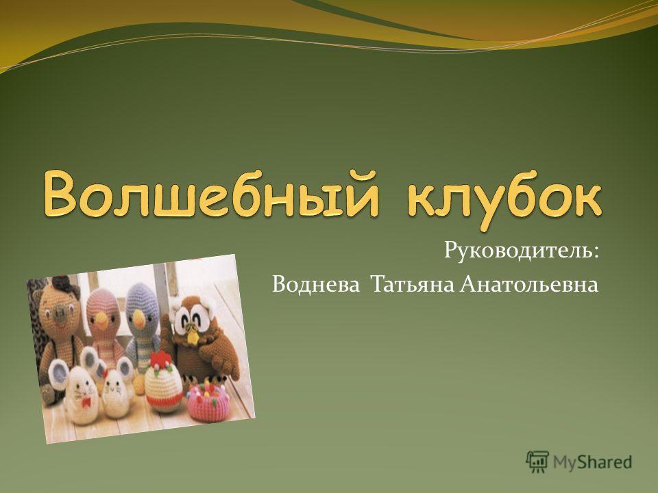 Руководитель: Воднева Татьяна Анатольевна