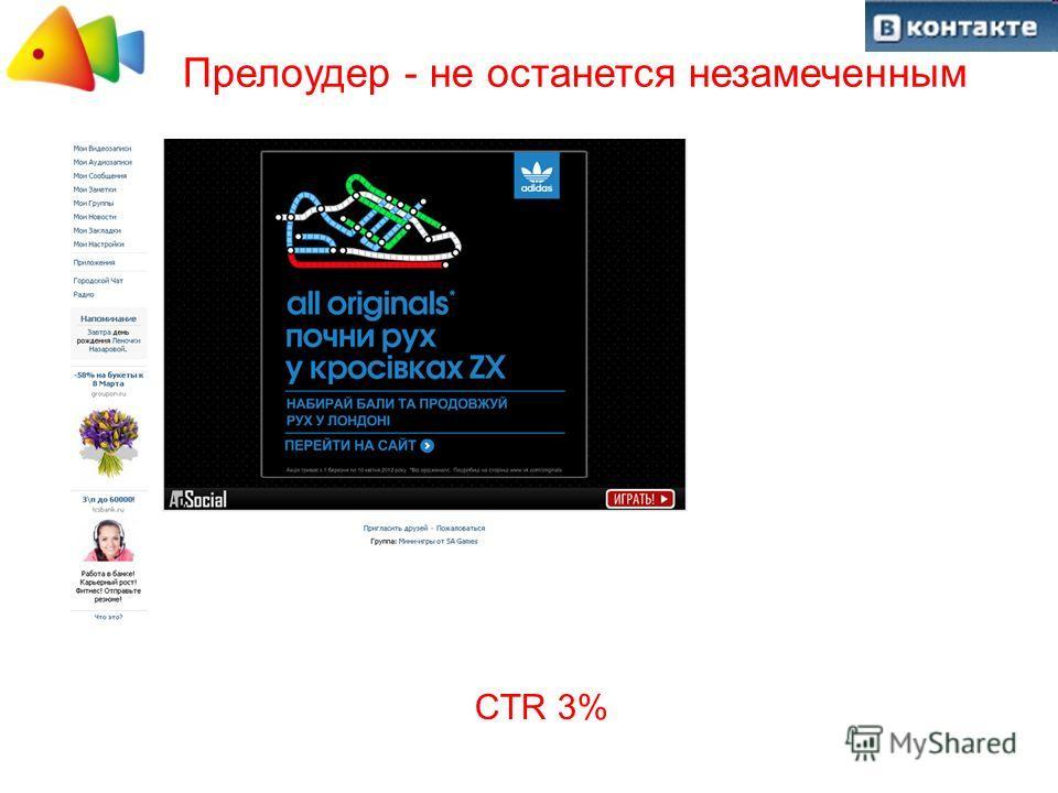 Прелоудер - не останется незамеченным CTR 3%