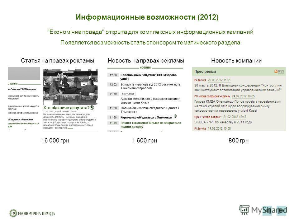 Информационные возможности (2012)