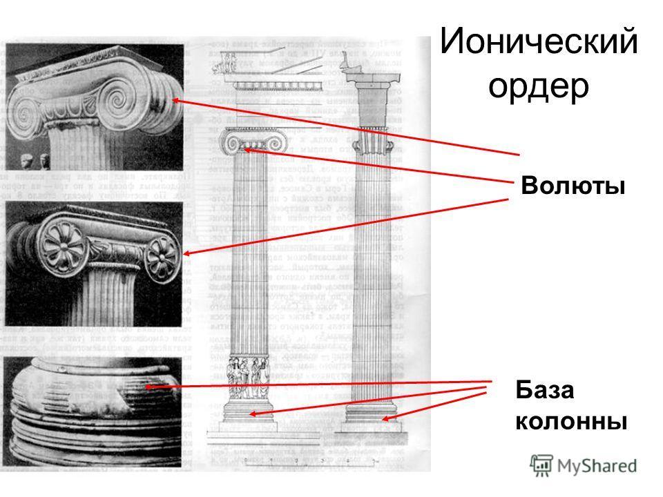 Ионический ордер Волюты База колонны