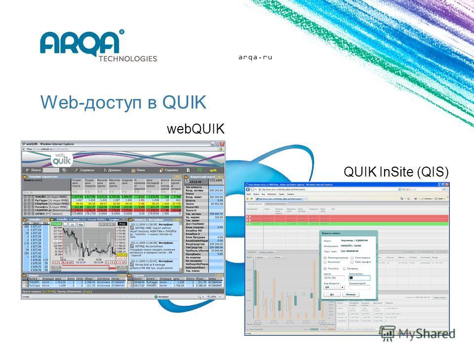 arqa.ru Web-доступ в QUIK QUIK InSite (QIS) webQUIK