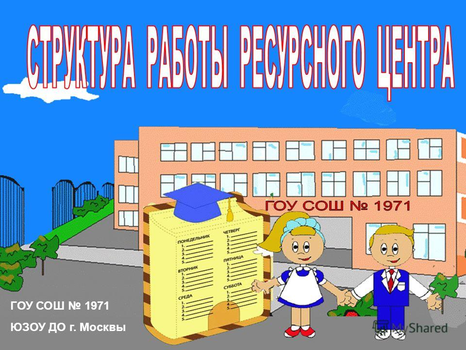 ГОУ СОШ 1971 ЮЗОУ ДО г. Москвы