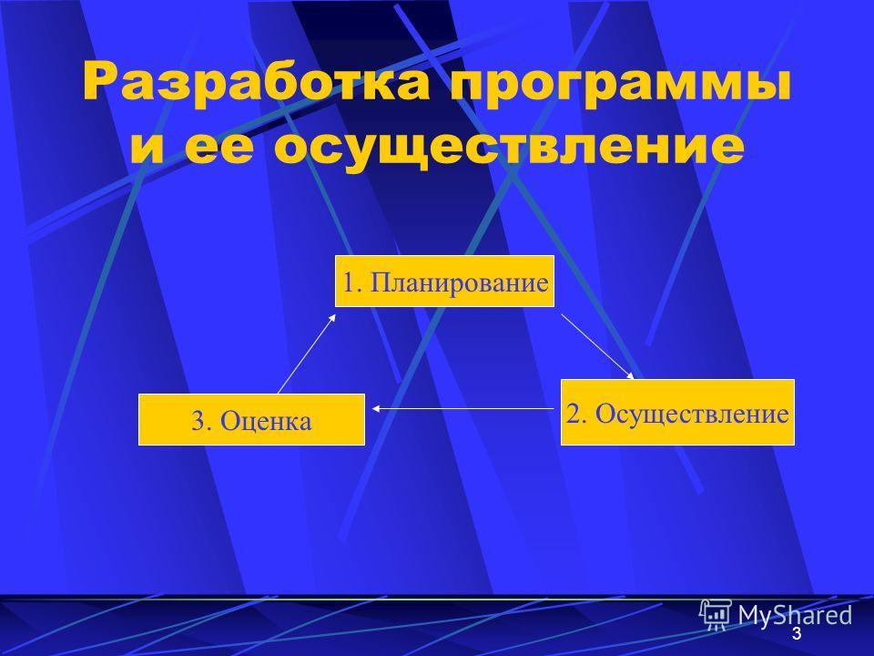 3 Разработка программы и ее осуществление 1. Планирование 3. Оценка 2. Осуществление