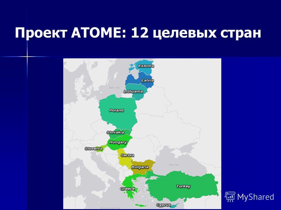 Проект ATOME: 12 целевых стран