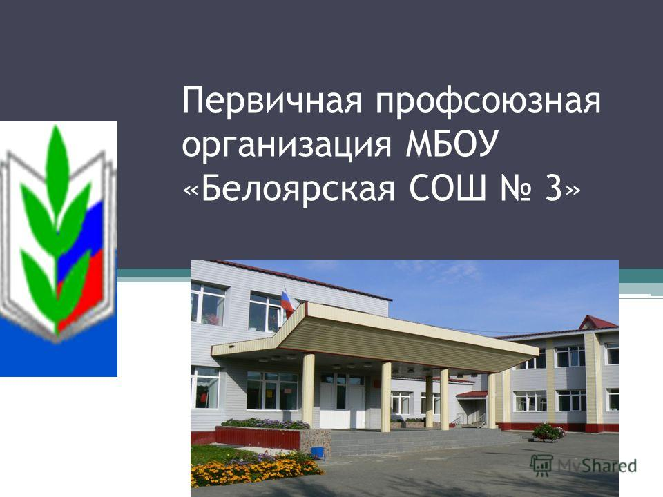 Первичная профсоюзная организация МБОУ «Белоярская СОШ 3»