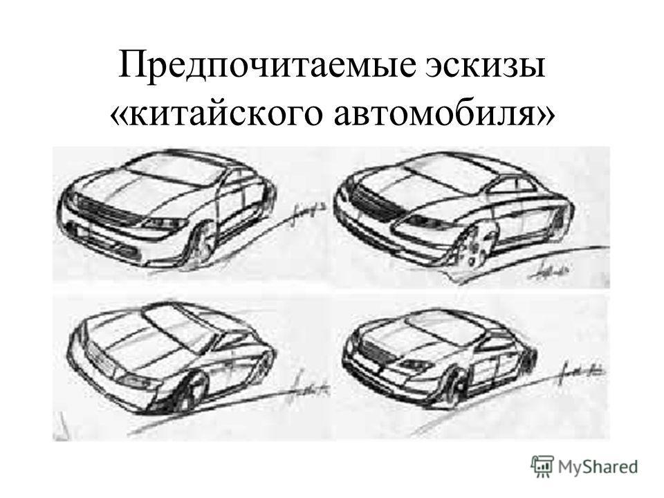 Предпочитаемые эскизы «китайского автомобиля»
