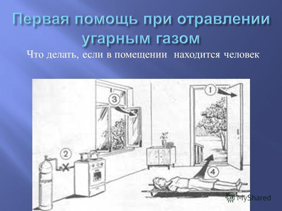 Что делать, если в помещении находится человек