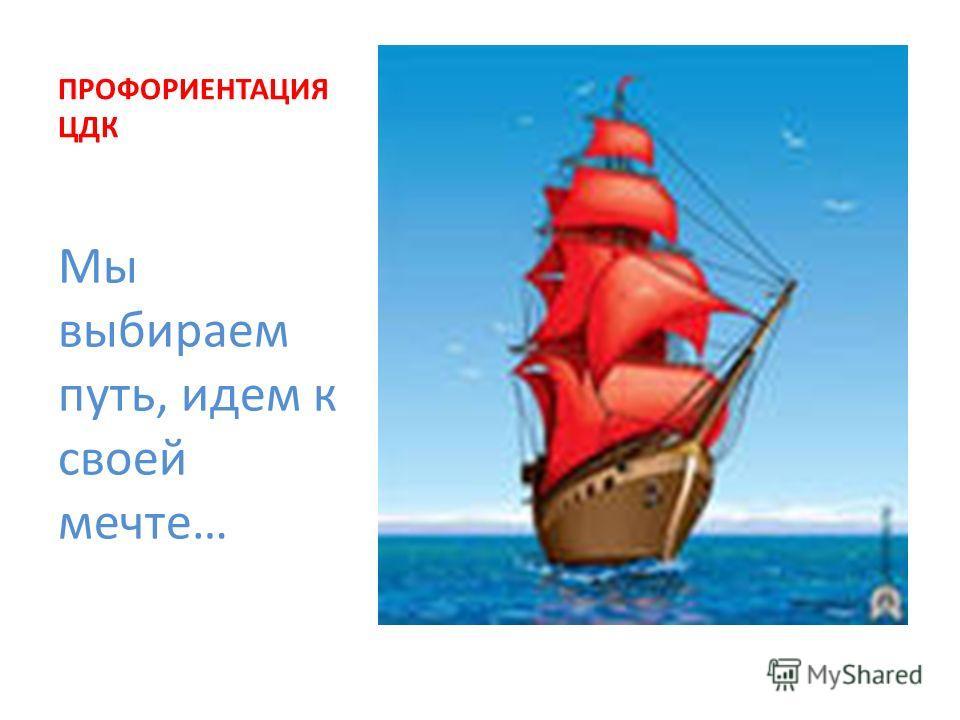 ПРОФОРИЕНТАЦИЯ ЦДК Мы выбираем путь, идем к своей мечте…