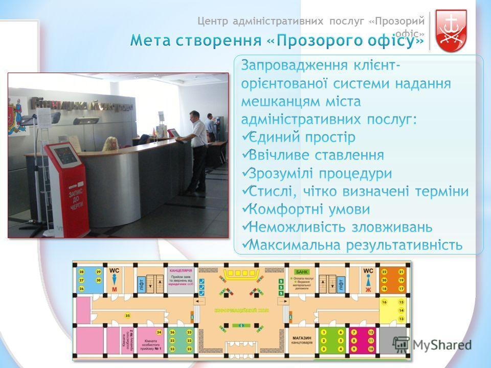 Центр адміністративних послуг «Прозорий офіс»