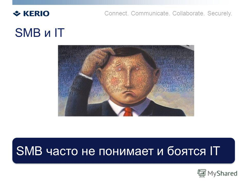 Connect. Communicate. Collaborate. Securely. SMB часто не понимает и боятся IT SMB и IT