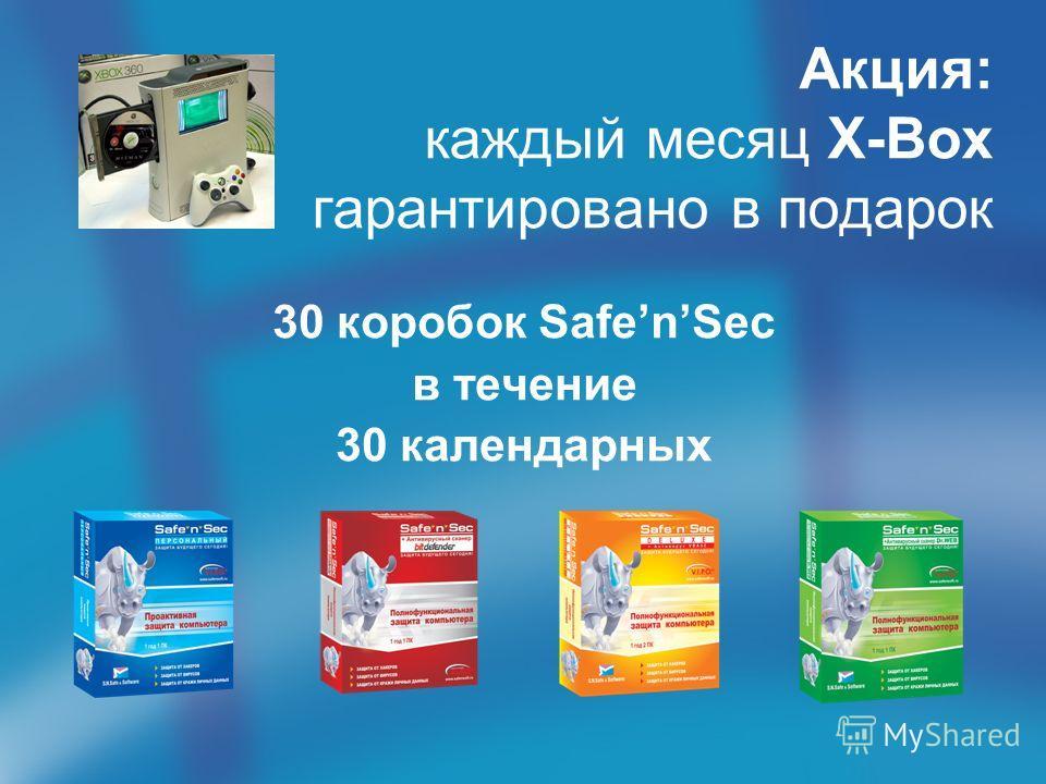 Акция: каждый месяц X-Box гарантировано в подарок 30 коробок SafenSec в течение 30 календарных