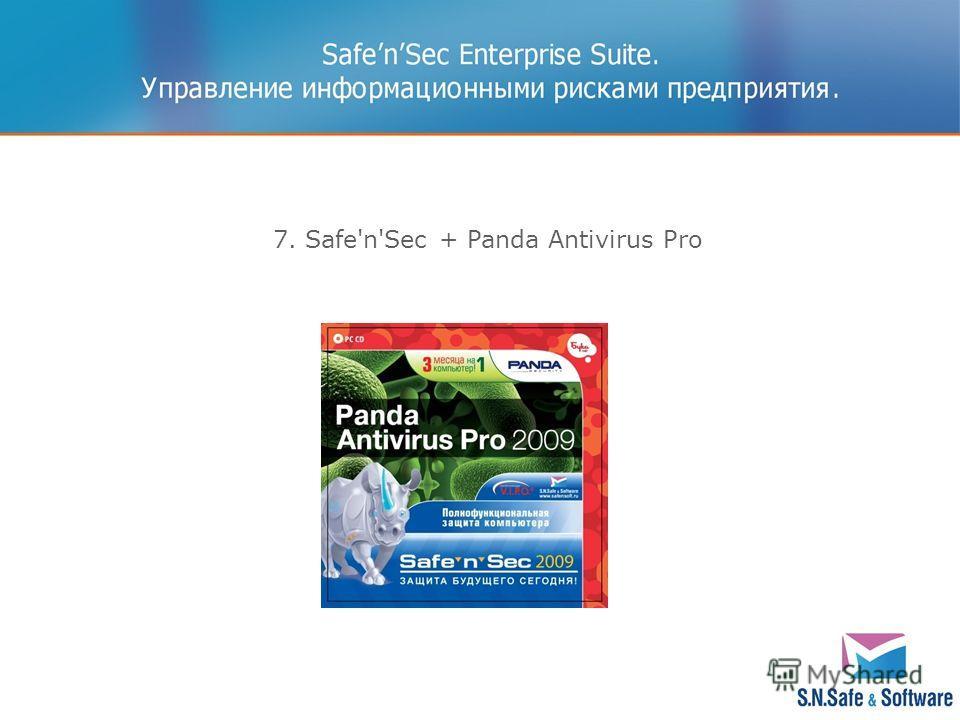 7. Safe'n'Sec + Panda Antivirus Pro
