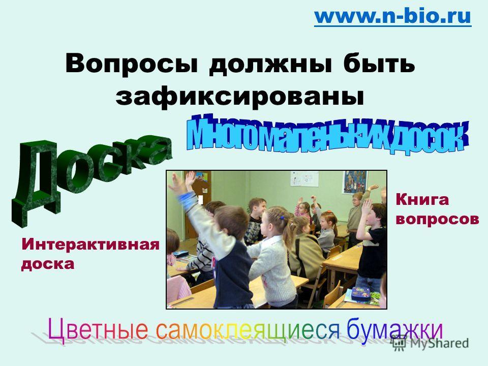 Откуда берутся вопросы? www.n-bio.ru Мнение 1 Мнение 2 ?