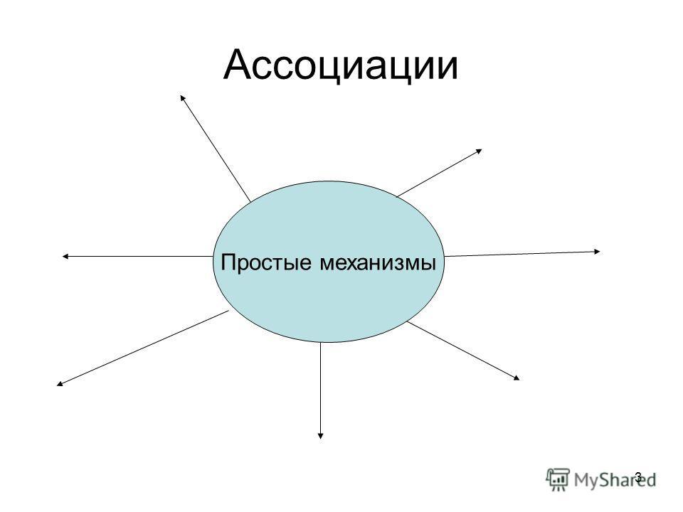 3 Ассоциации Простые механизмы