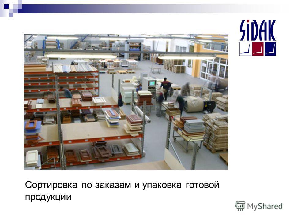 Сортировка по заказам и упаковка готовой продукции