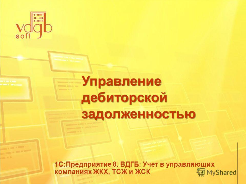 Управление дебиторской задолженностью 1С:Предприятие 8. ВДГБ: Учет в управляющих компаниях ЖКХ, ТСЖ и ЖСК