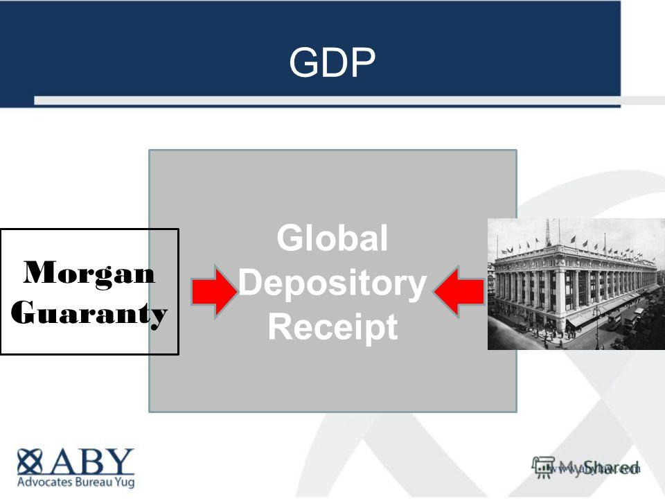 GDP Global Depository Receipt Morgan Guaranty
