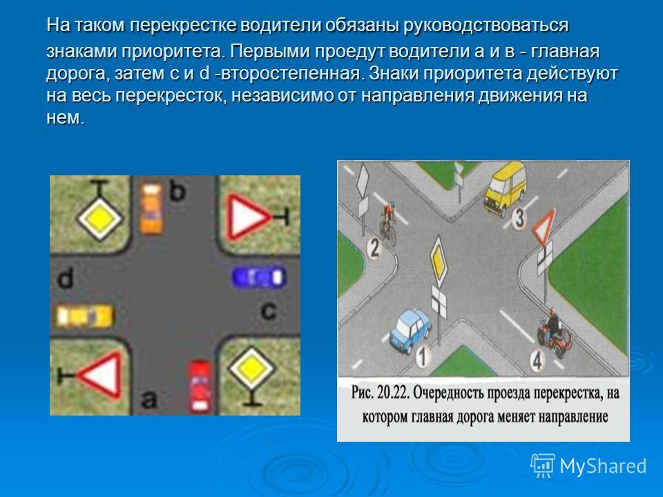 Проезд Перекрестков Со Знаком Главная Дорога