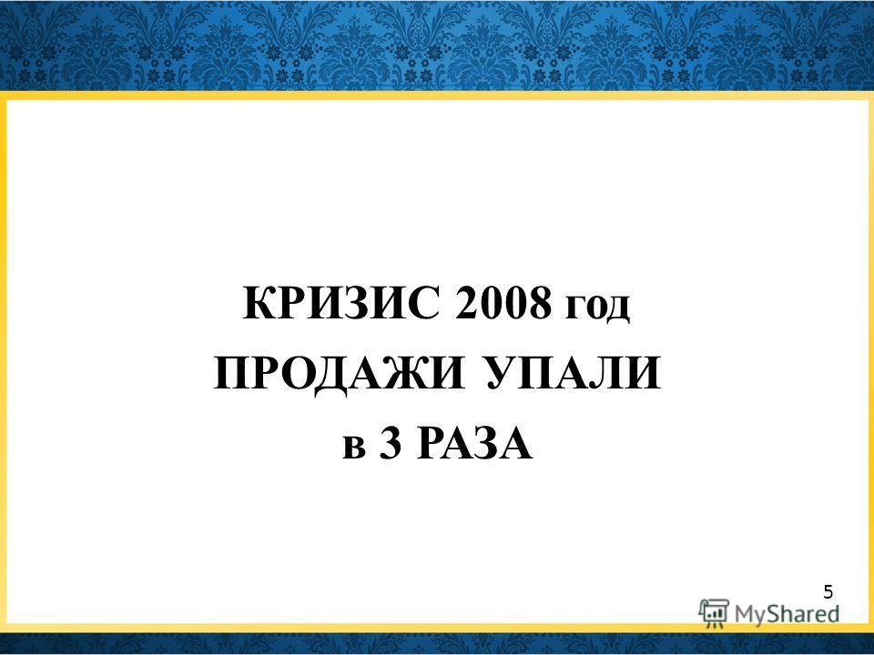 КРИЗИС 2008 год ПРОДАЖИ УПАЛИ в 3 РАЗА 5