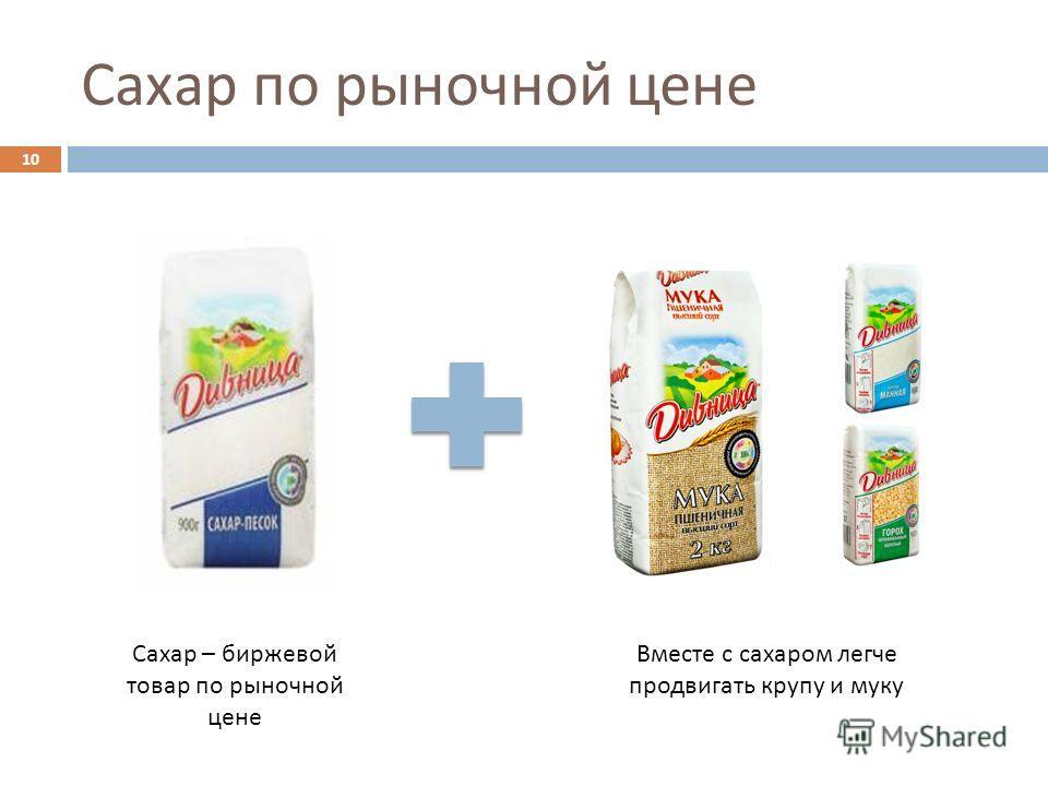 Сахар по рыночной цене 10 Сахар – биржевой товар по рыночной цене Вместе с сахаром легче продвигать крупу и муку