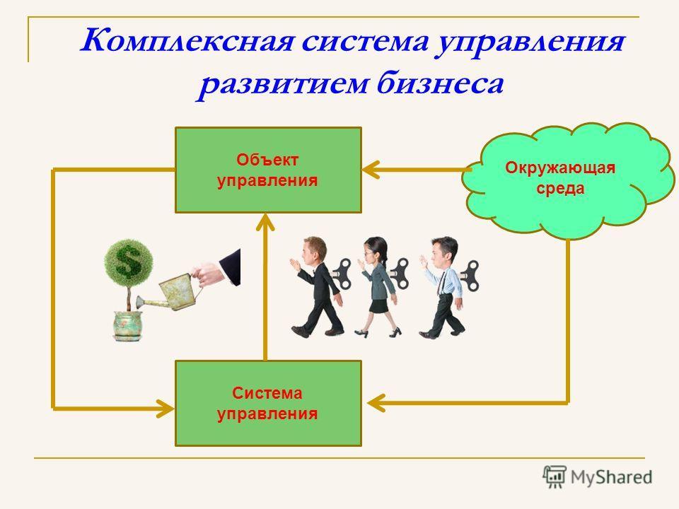 Комплексная система управления развитием бизнеса Объект управления Система управления Окружающая среда