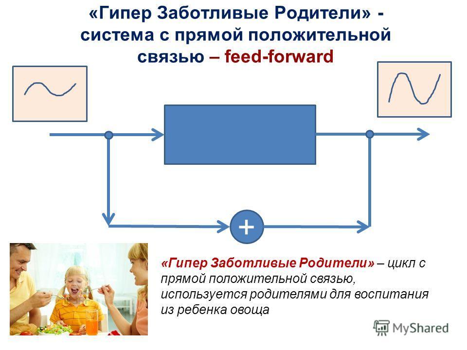 «Гипер Заботливые Родители» - система с прямой положительной связью – feed-forward + «Гипер Заботливые Родители» – цикл с прямой положительной связью, используется родителями для воспитания из ребенка овоща