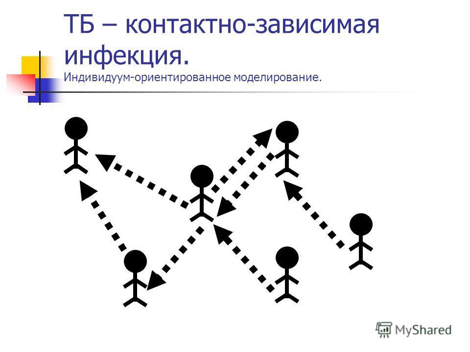 ТБ – контактно-зависимая инфекция. Индивидуум-ориентированное моделирование.