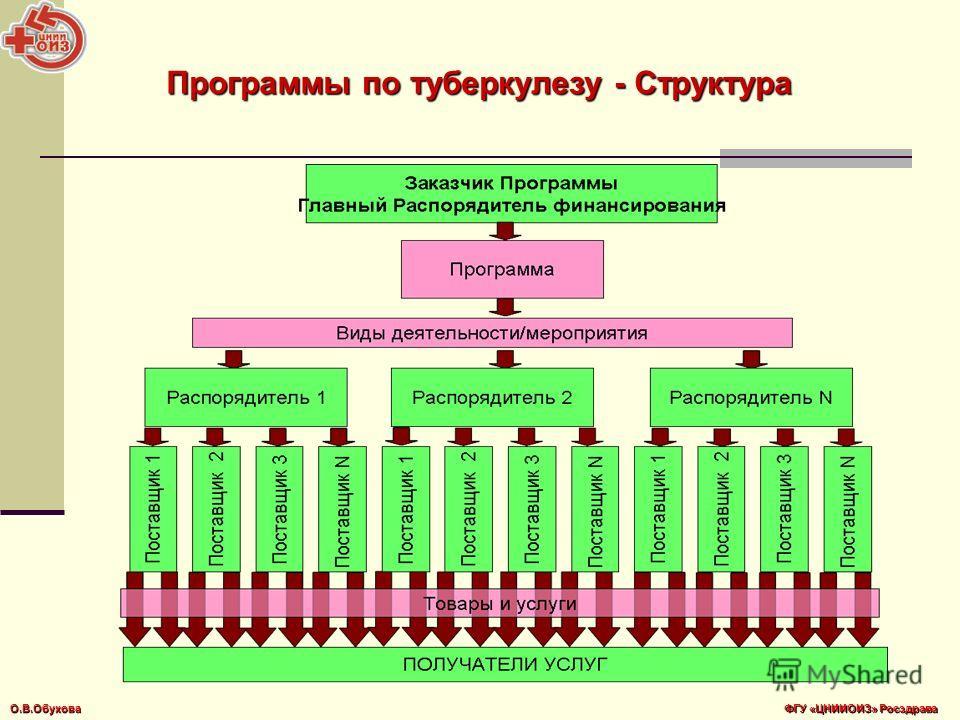 Программы по туберкулезу - Структура О.В.Обухова ФГУ «ЦНИИОИЗ» Росздрава