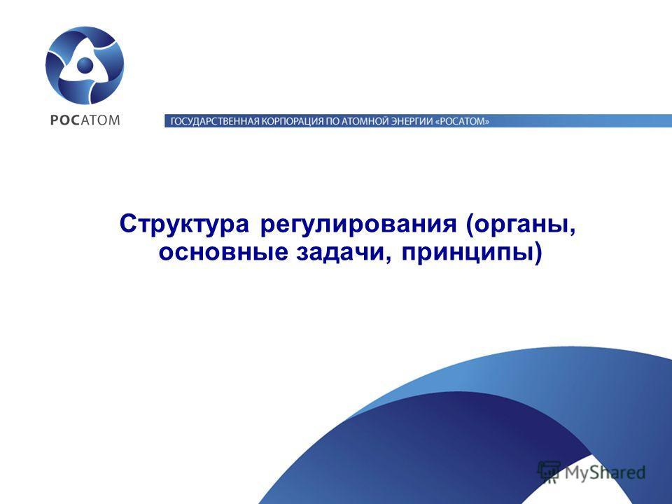 Структура регулирования (органы, основные задачи, принципы)