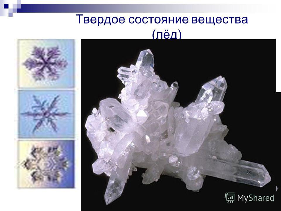 Твердое состояние вещества (лёд)