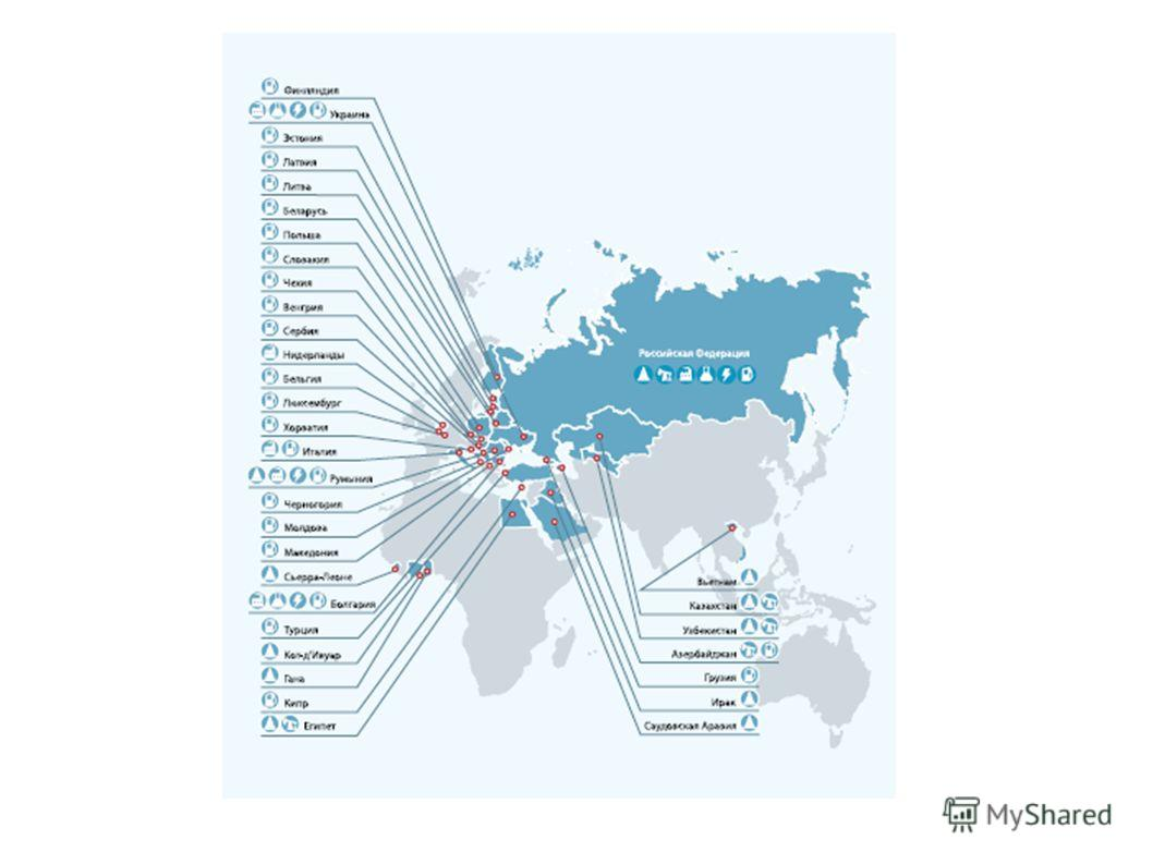 Презентация на тему Международные проекты компании Лукойл  5 ЛУКОЙЛ участвует в реализации 12 зарубежных проектов из которых 3 приходится на нефтепереработку Значительная часть зарубежных проектов являются