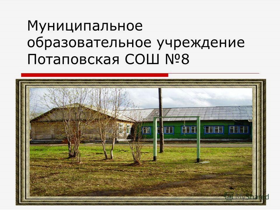 Муниципальное образовательное учреждение Потаповская СОШ 8