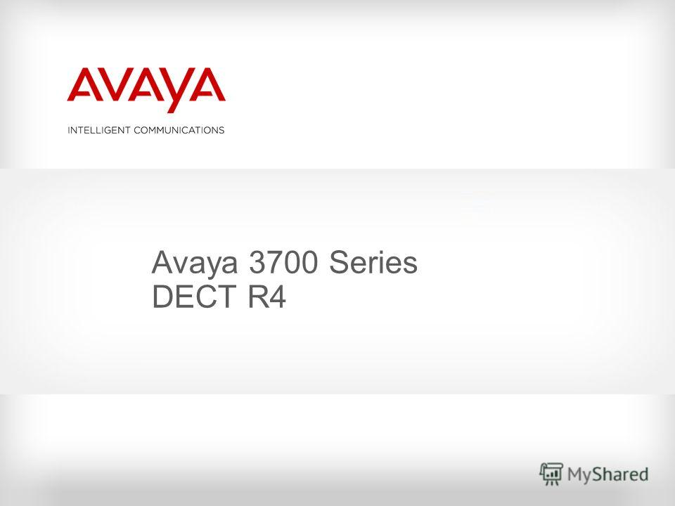 Avaya 3700 Series DECT R4