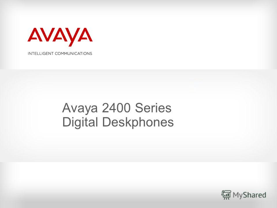 Avaya 2400 Series Digital Deskphones