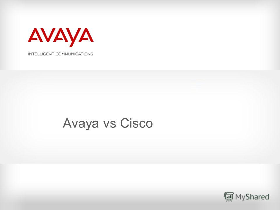 Avaya vs Cisco