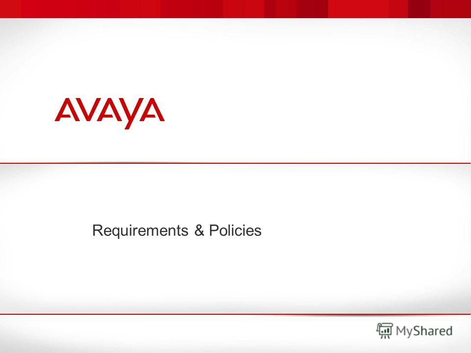 Requirements & Policies