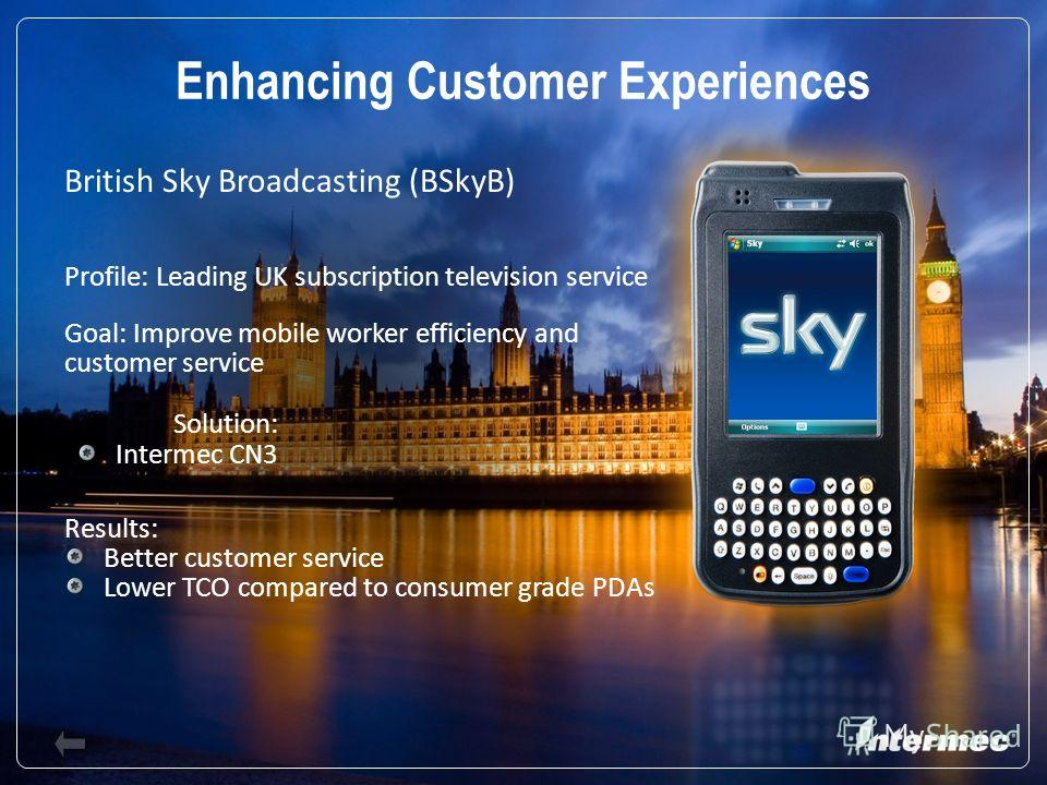 Slide 20 British Sky Broadcasting (BSkyB) Profile: Leading UK subscription television service Goal: Improve mobile worker efficiency and customer service Results: Better customer service Lower TCO compared to consumer grade PDAs Enhancing Customer Ex