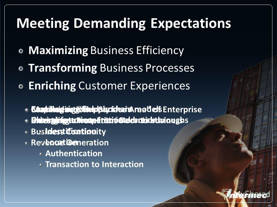 Meeting Demanding Expectations Maximizing Business Efficiency Transforming Business Processes Enriching Customer Experiences Cost Reduction Investment Protection Business Continuity Revenue Generation Enabling new supply chain models Driving future o