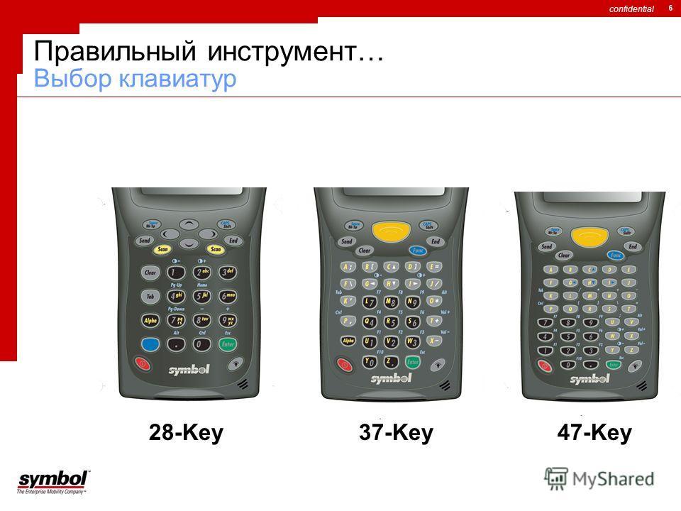 confidential 6 Правильный инструмент… Выбор клавиатур 28-Key37-Key47-Key