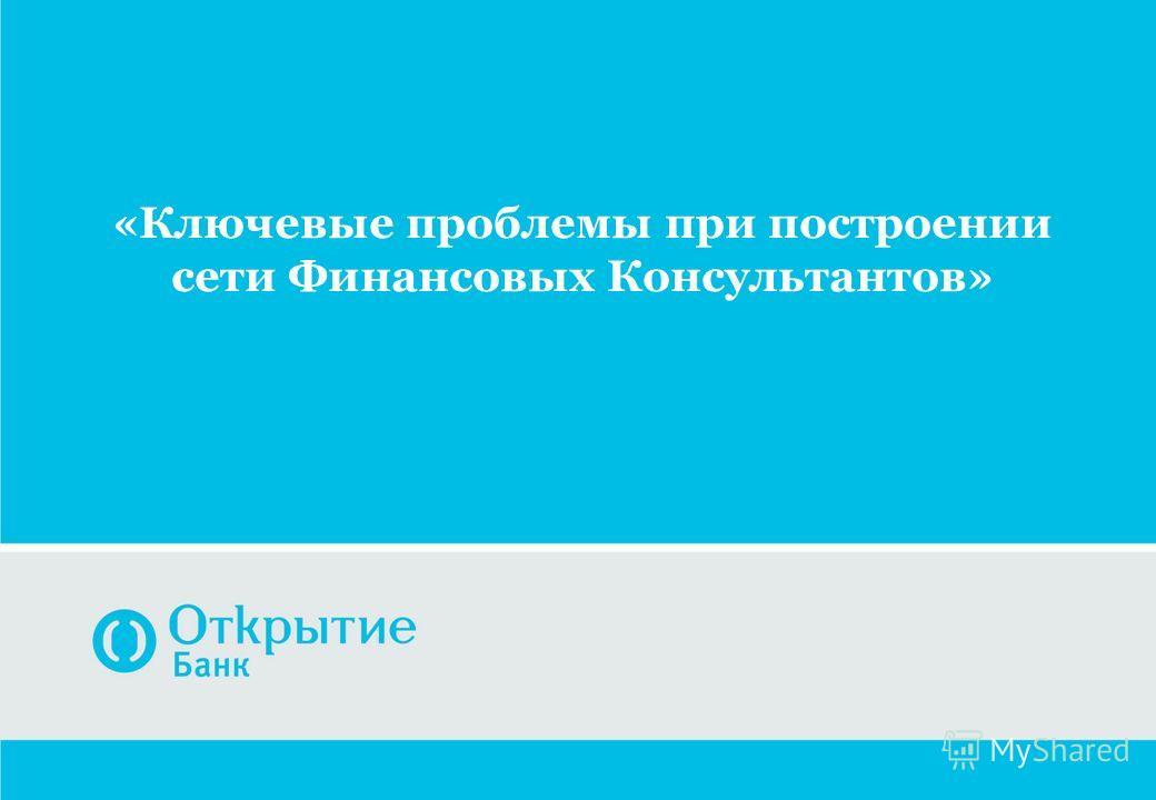 «Ключевые проблемы при построении сети Финансовых Консультантов»