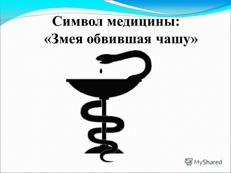 Символ медицины: «Змея обвившая чашу»