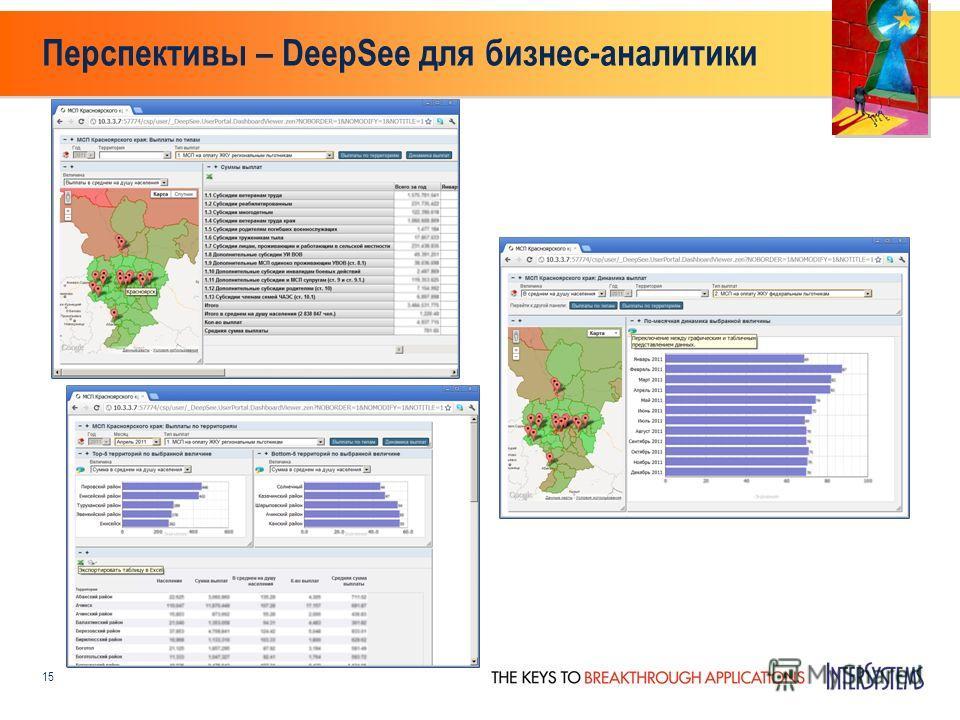 Перспективы – DeepSee для бизнес-аналитики 15