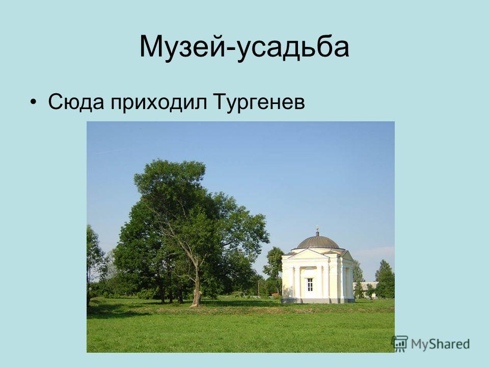 Спасское-Лутовиново Родовое имение писателя