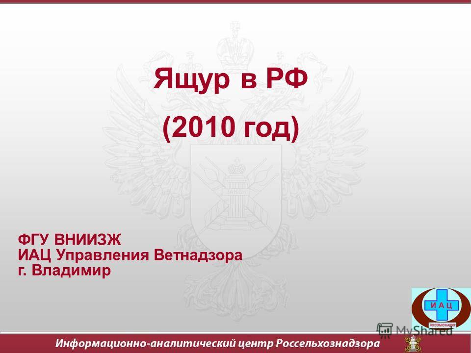Ящур в РФ (2010 год) ФГУ ВНИИЗЖ ИАЦ Управления Ветнадзора г. Владимир