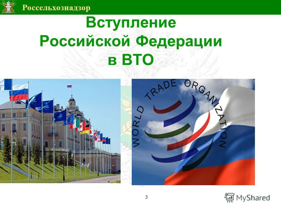 Россельхознадзор Вступление Российской Федерации в ВТО 3