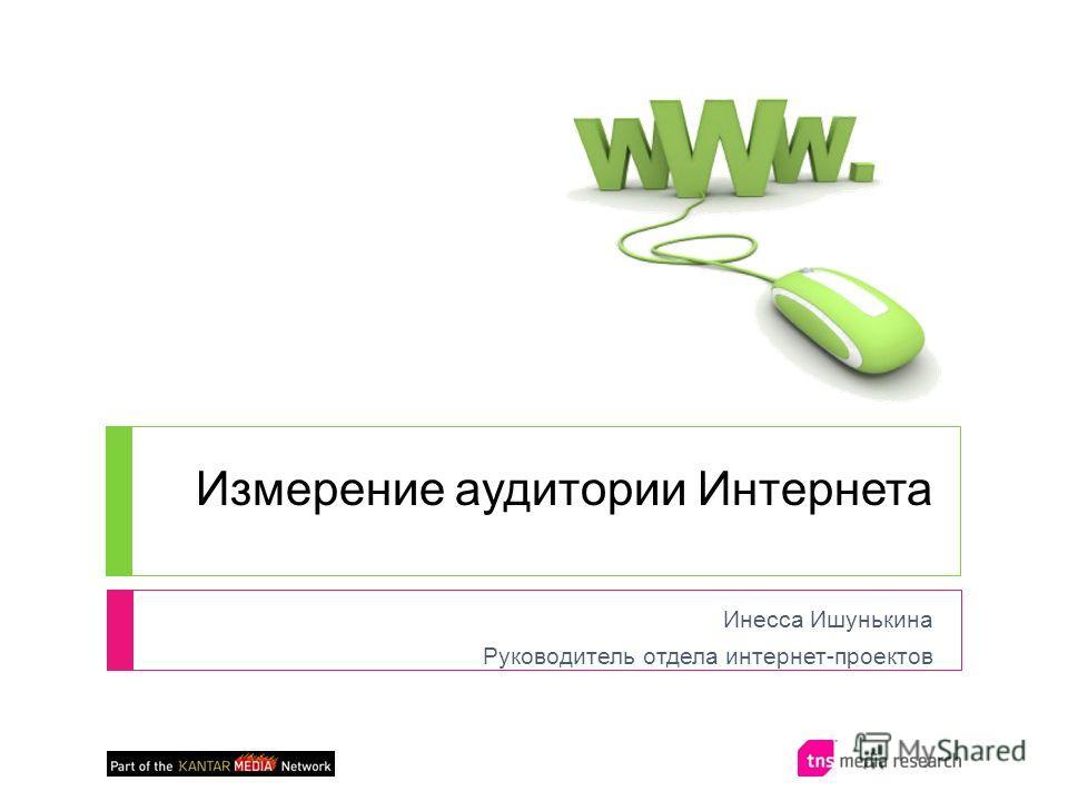 Измерение аудитории Интернета Инесса Ишунькина Руководитель отдела интернет-проектов