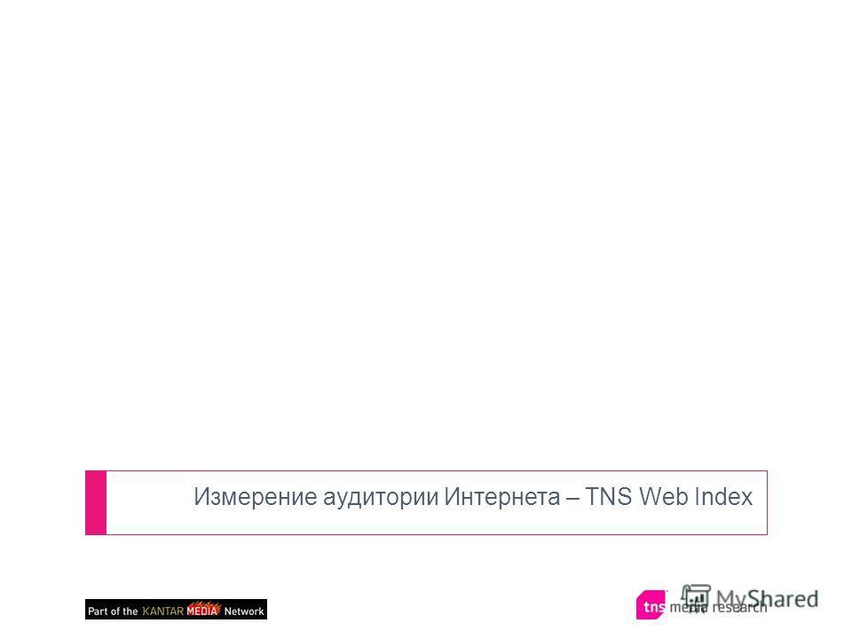 Измерение аудитории Интернета – TNS Web Index
