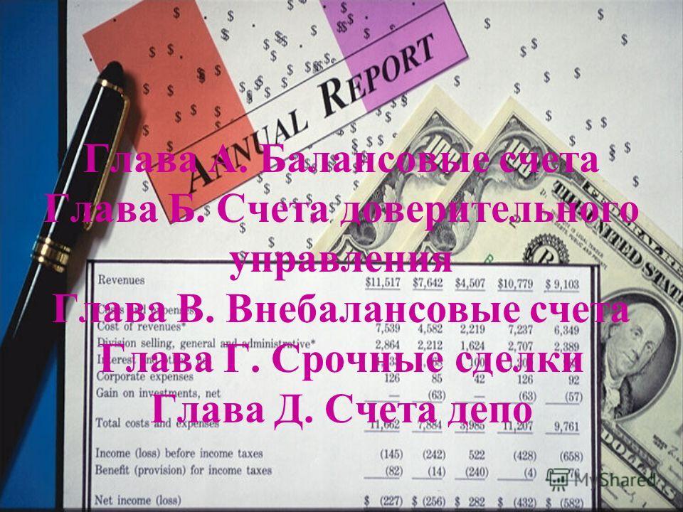 Структура плана счетов: главы, разделы, подразделы, счета первого порядка, счета второго порядка